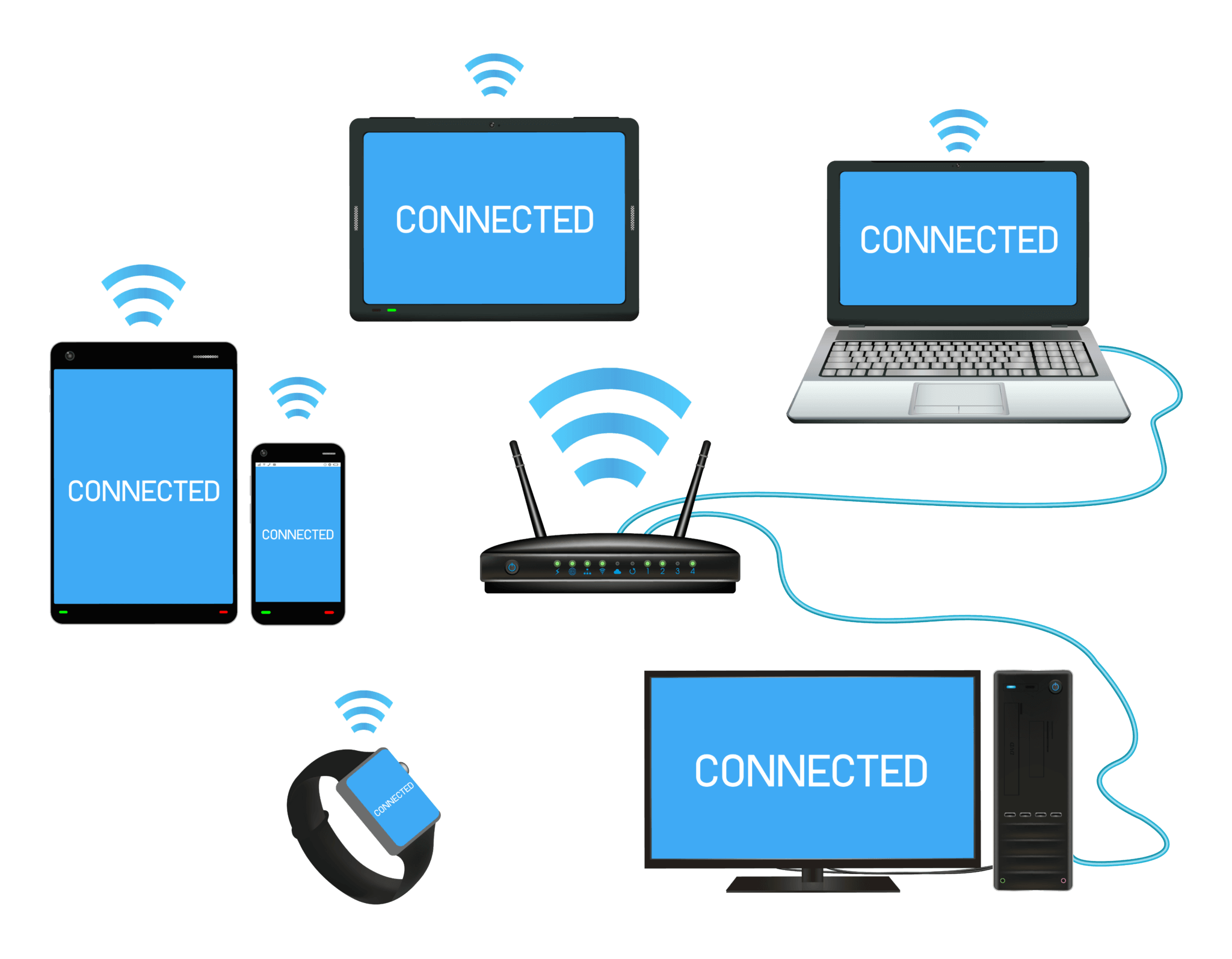 The many different WiFi devices in a home or business